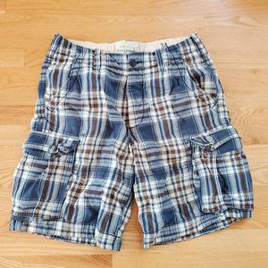 Abercrombie and Fitch men's Cargo Shorts 34 Blue